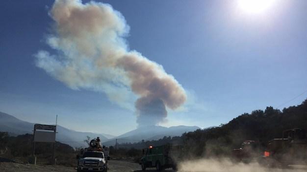 Crews Jump on Fire Burning in Orange County