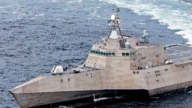 Combat Ship Departs to Western Pacific
