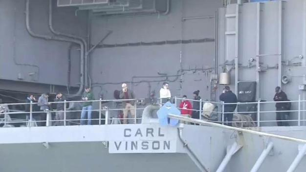 USS Carl Vinson Returns to San Diego