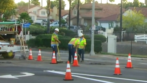 Vista Water Main Break Repaired