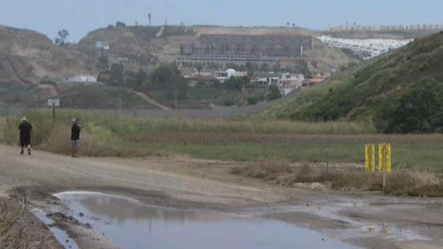 Warning Signs Posted in Sewage Spill Zone
