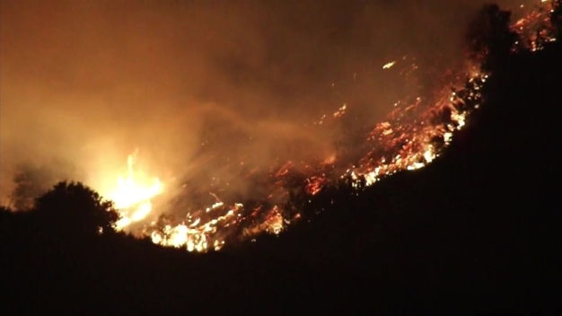 Camp Pendleton Brush Fire Flames Light Up Night