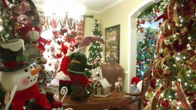 Woman Decorates Home With 23 Christmas Trees