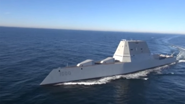 U.S. Navy's Zumwalt Headed to San Diego