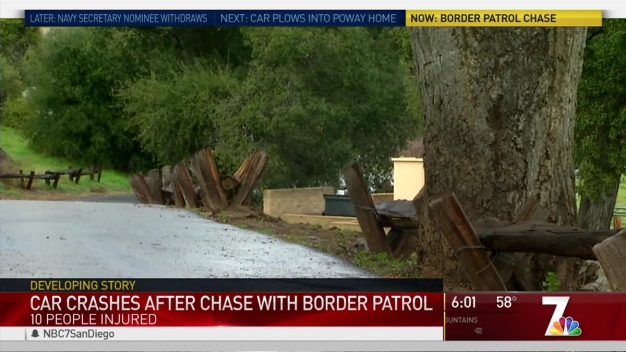 10 Injured in Border Patrol Chase: Cal Fire