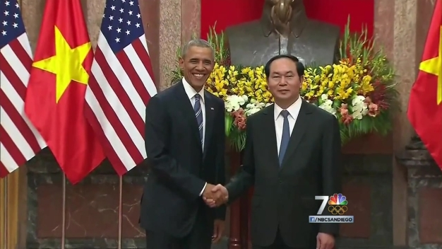 President Lifts U.S. Arms Ban on Vietnam