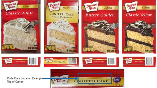 Duncan Hines Cake Mixes Recalled Due to Possible Salmonella }