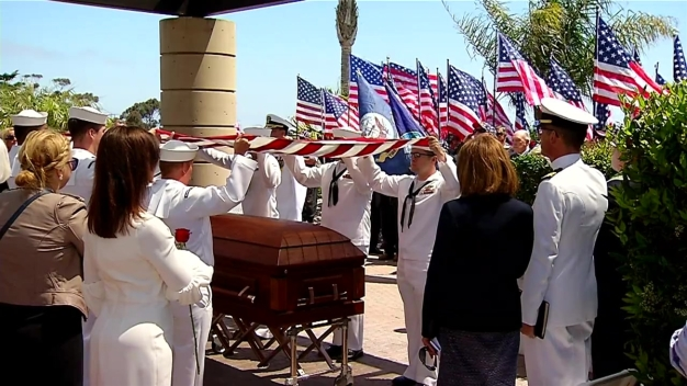 51 Years After His Death Navy Pilot is Buried at Rosecrans