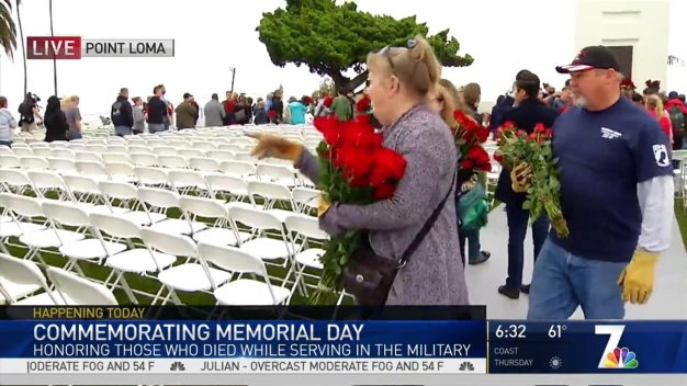45,000 Roses Placed on Graves at Fort Rosecrans Cemetery