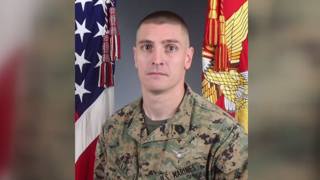 Fallen Marine Honored Ahead of Funeral Procession