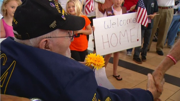WWII Vets Get Greeting Worthy of VE Day