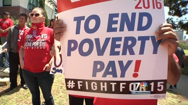 Protesters March in San Diego for Workers' Rights on May Day