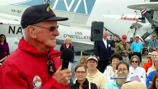 USS Midway Honors WWII Vets for Memorial Day