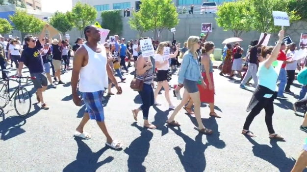 Protesters March Through El Cajon Streets for Fourth Day
