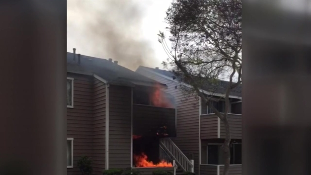 Barbecue Fire Chars 2 Apartment Units in Point Loma