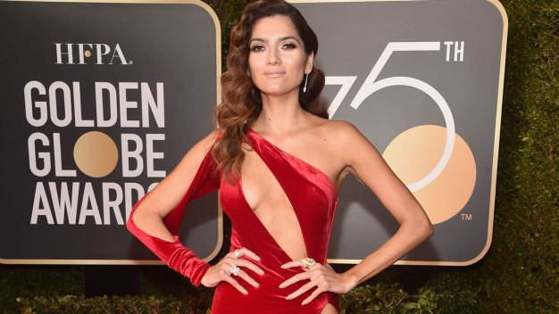 Red Dress Takes Heat Amid Golden Globes All-Black Dress Code