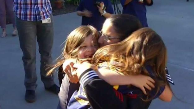 Navy Sailor Arrives for Holidays in Surprise Homecoming