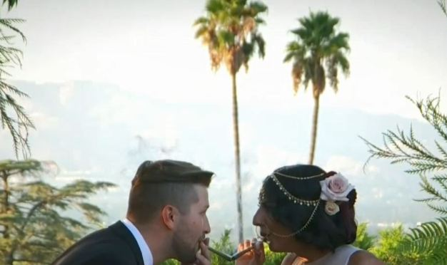 Newlyweeds Celebrate Their Love With Cannabis-Themed Wedding