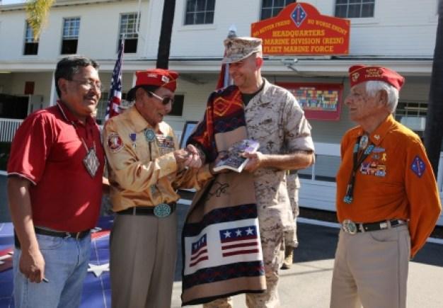 Navajo Code Talkers Honored at Camp Pendleton