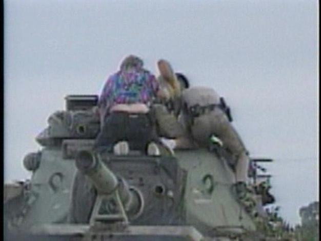 Raw Video: Ex-Soldier Steals Tank (1995)
