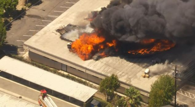 PHOTOS: Fire Rips Through South LA High School