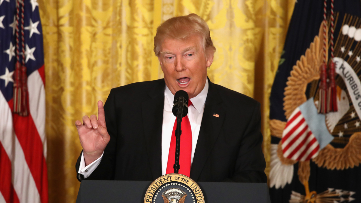 WASHINGTON, DC - FEBRUARY 16: U.S. President Donald Trump speaks during a news conference announcing Alexander Acosta as the new Labor Secretary nominee in the East Room at the White House on February 16, 2017 in Washington, DC. The announcement comes a day after Andrew Puzder withdrew his nomination. (Photo by Mark Wilson/Getty Images)