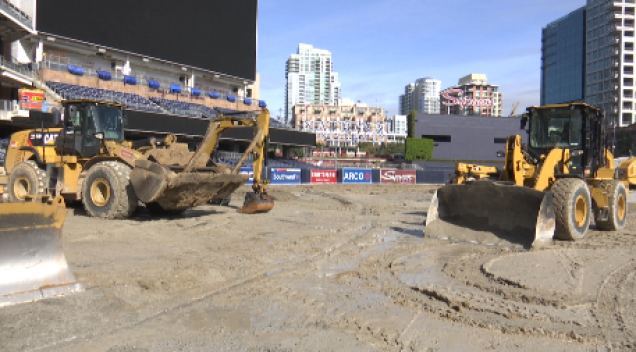 Rain Delays Monster Jam Setup at Petco Park