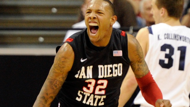 Aztecs Celebrate Win Over BYU