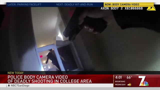 WARNING GRAPHIC VIDEO: SDPD Body Cam Captures College Area Shootout