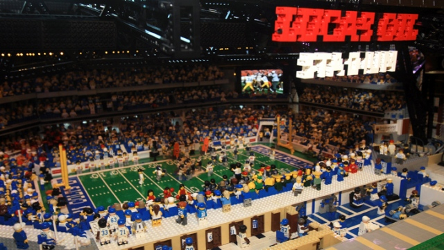 Super Bowl XLVI Lego Build