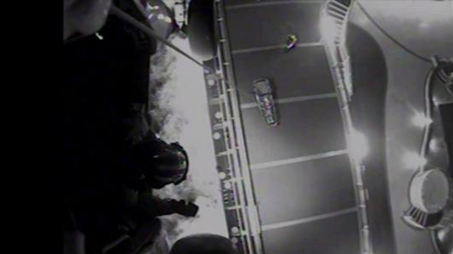 Watch: Ill Crewmember Hoisted From Cruise Ship<br />