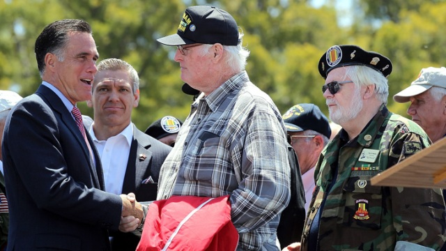 Mitt Romney Attends Memorial Day Tribute in San Diego