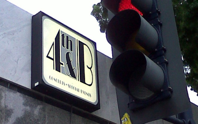 The 4th & B marquee