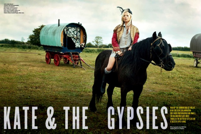 Kate Moss Trades in City Life for Gypsy Living