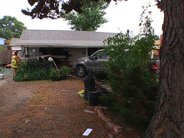 Truck Smashes into Carlsbad Home