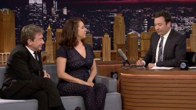 'Tonight': 'Maya & Marty' Stars Bake Fallon a Pie