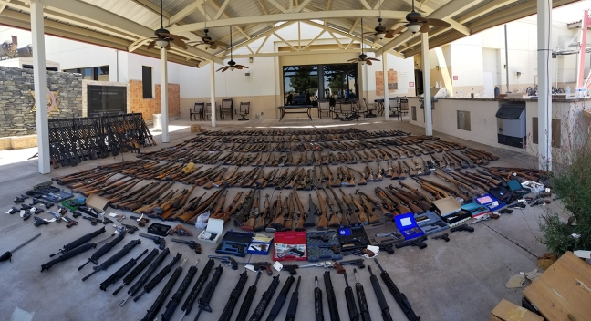 Weapons Cache Seized, Man Arrested in Agua Dulce