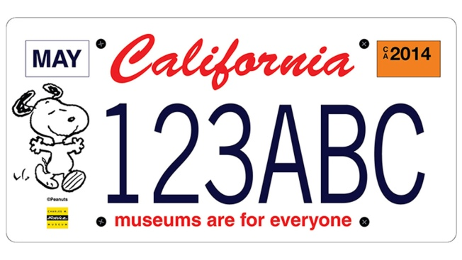 Snoopy License Plates Would Help California Museums