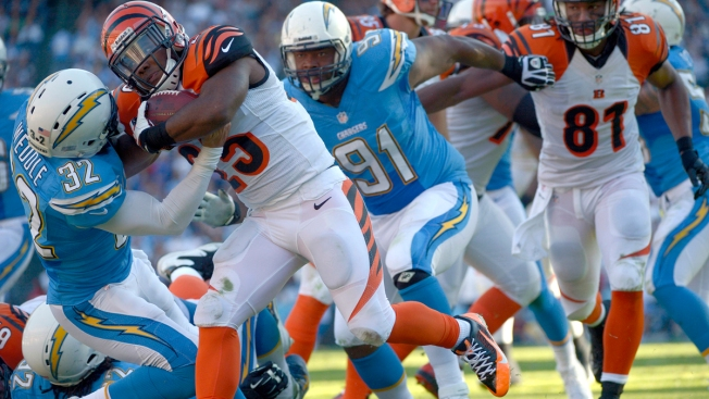 Chargers Lose to Bengals, 17-10
