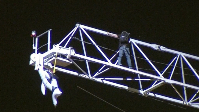 'Jackass' Star Charged After Climbing Hollywood Crane