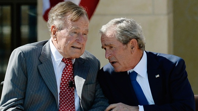 Former Presidents George H.W. Bush and George W. Bush Staying Clear of WH Race