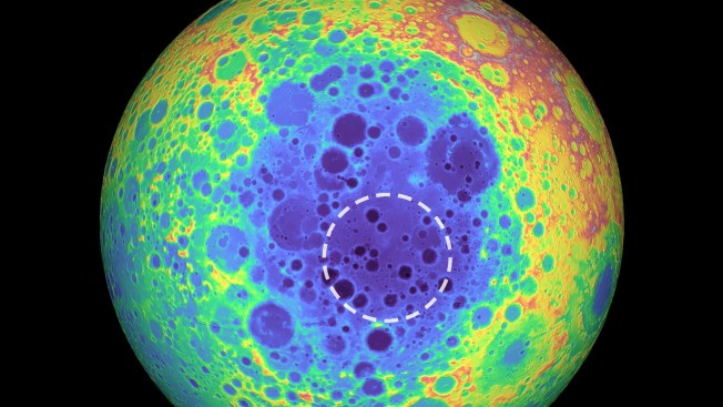 Huge Mystery Blob Discovered Under the Moon's Biggest Crater