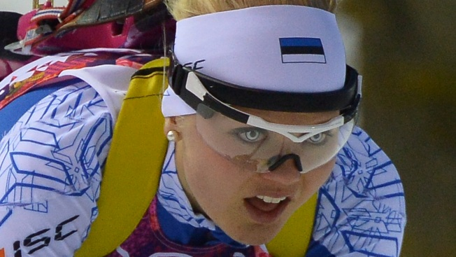 Estonian Athlete Rocks Crazy Contacts for Biathlon