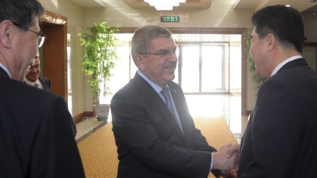 IOC President Meets With Kim Jong Un in North Korea