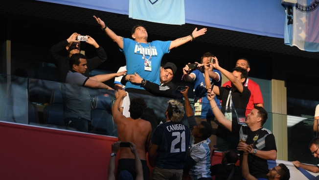 Maradona 'Fine' After Jubilant World Cup Game Ends With Doctor's Treatment