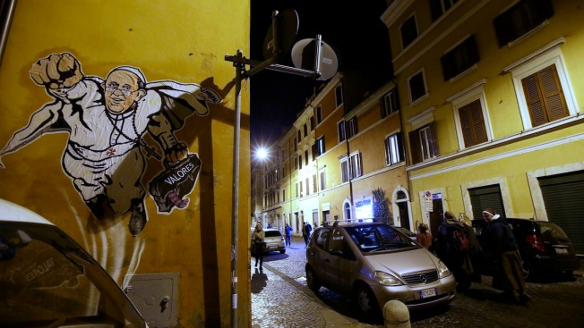 "Pope Francis Deemed ""SuperPope"" by Vatican Graffiti"