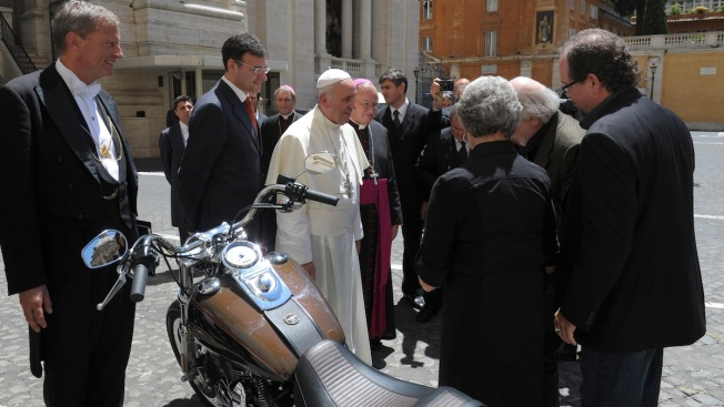 Pope's Harley Sells for $327K at Charity Auction
