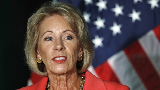 On Work Trips, DeVos Flies on Her Plane at Own Expense
