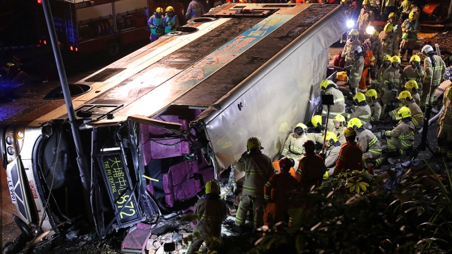 18 Killed in Hong Kong Double-Decker Bus Crash