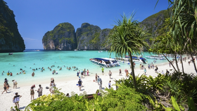 Thai Beach Famous From DiCaprio Movie 'The Beach' Getting a Breather From Its Daily Flood of Tourists